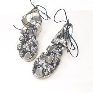 Michael Kors | Women's Ankle Wrap Wedge Sandals